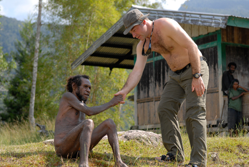 Olly meets Yali tribesman
