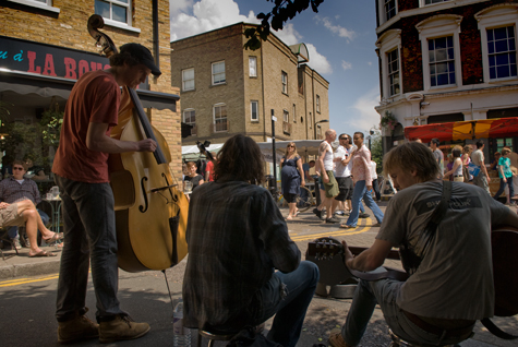 Buskers at Broadway Market