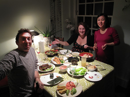 Ben, Jen, Ayumi and the best Sushi ever.