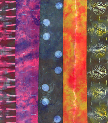 """Dyed Silk Scarves"" (detail)"