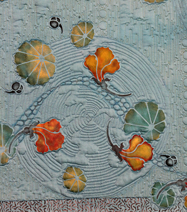 Blue with Flowers (detail)