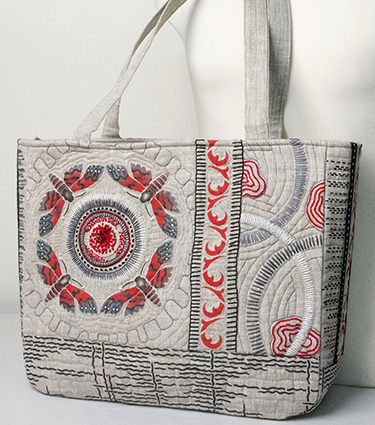 Handpainted Dragonfly Tote