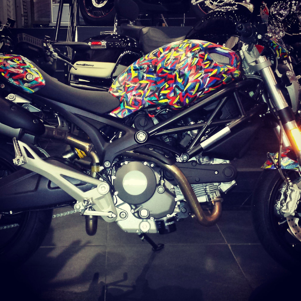 Hand Painted Ducati Monster
