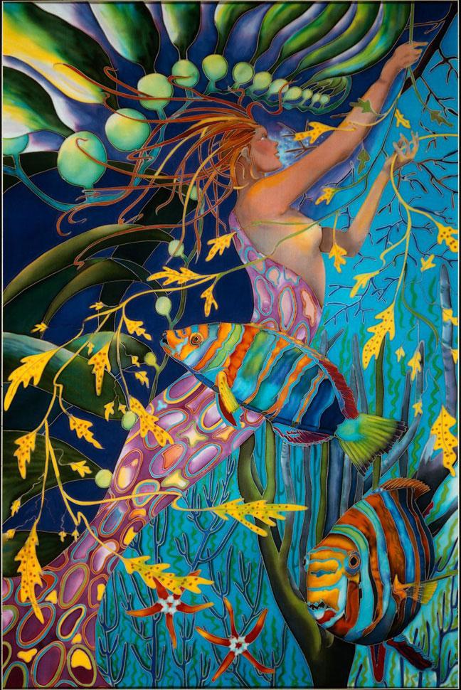 """Mermaid with Harlequin Tuskfish"""