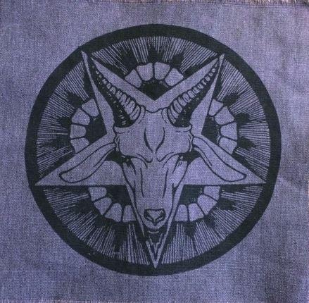"""Baphomet Pentagram"" goat patch"