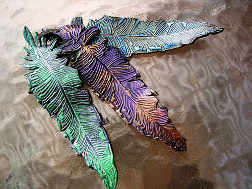Polymer Clay Leaves