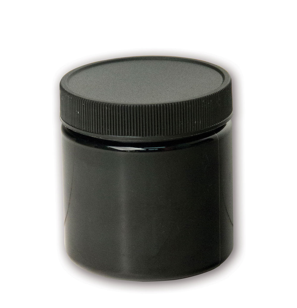 4 oz Opaque Black Jar#(plastic wide-mouth w/lid)#Item ACC2110