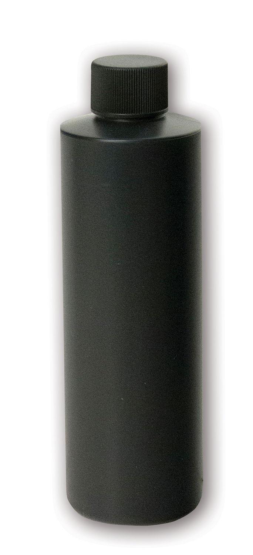 8 oz Opaque Black Bottle#(plastic w/cap)#Item ACC2108