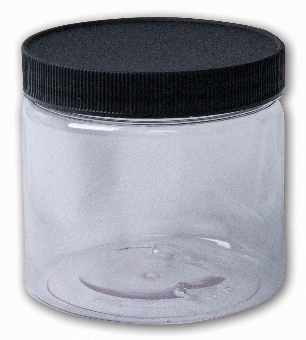 16 oz Clear Jar#(plastic wide-mouth w/lid)#Item ACC1797