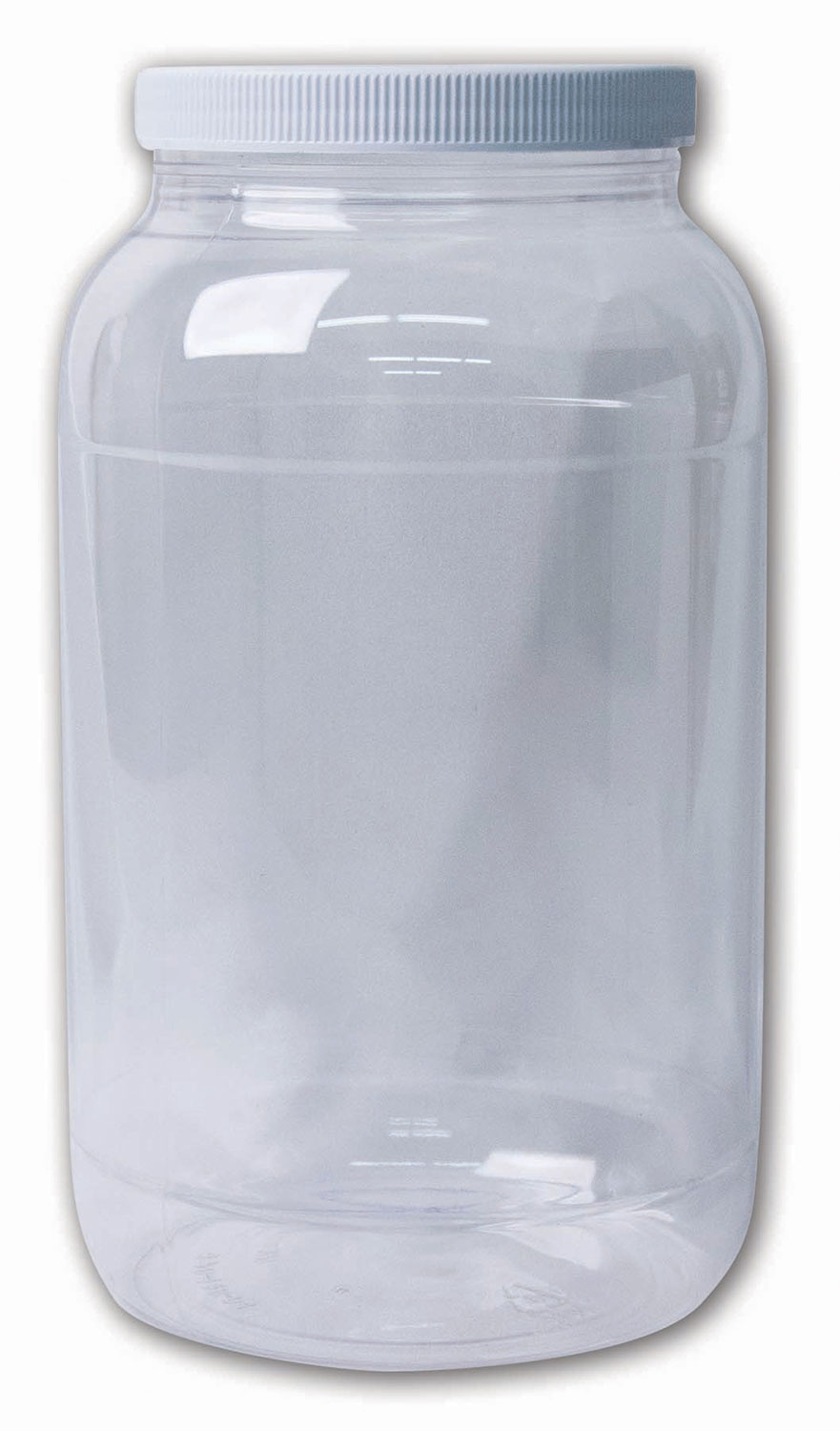 Gallon Clear Jar#(plastic wide-mouth w/lid)#Item ACC1798