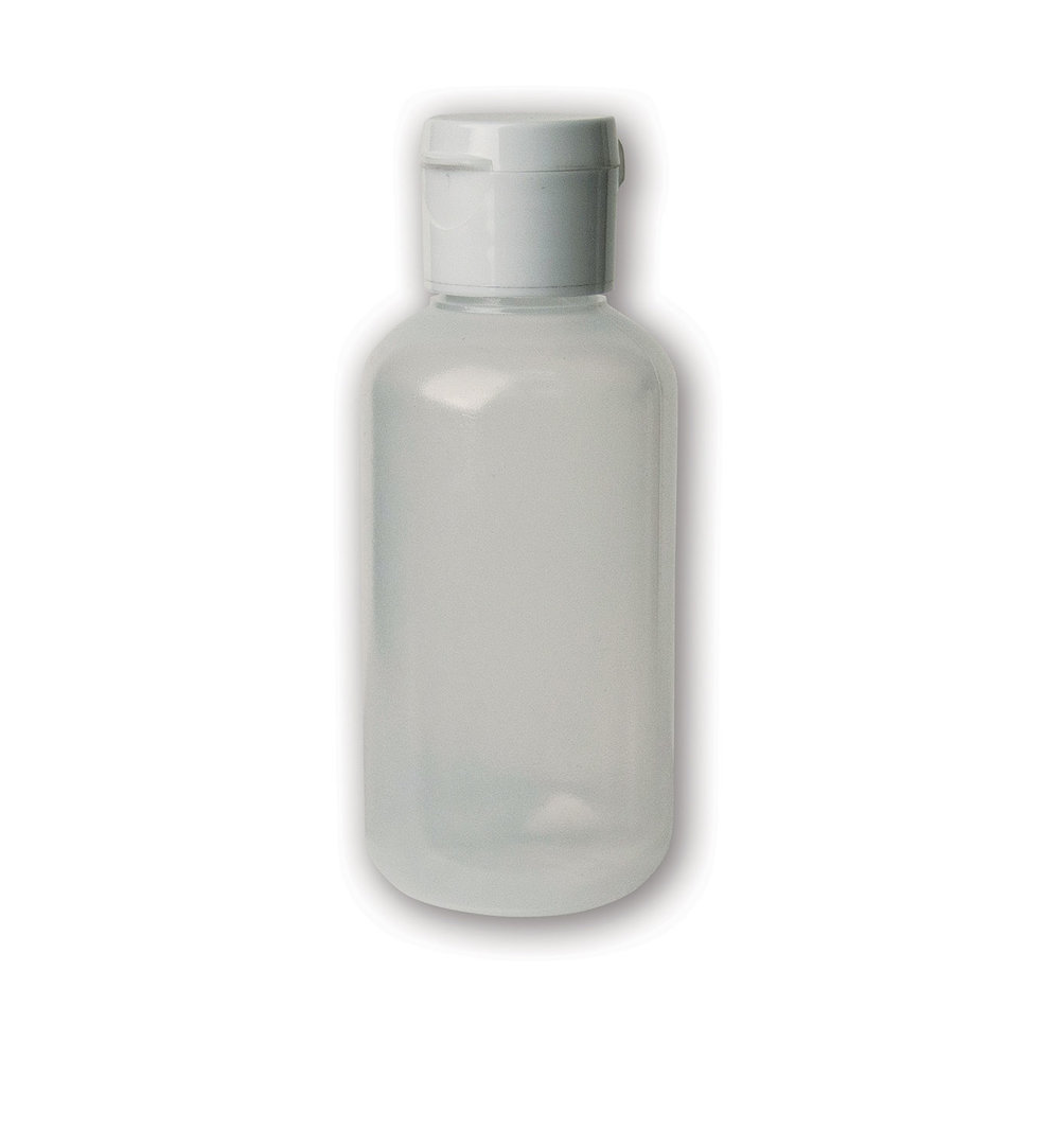 2 oz Translucent#Soft/Squeezable Bottle#(plastic w/flip cap)#Item ACC2125