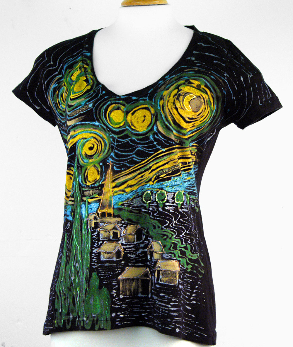 T-shirt painted with<br>Lumiere 3D