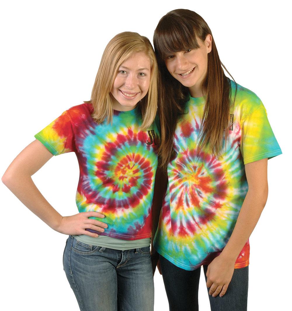 Classic spiral tie dye t-shirts