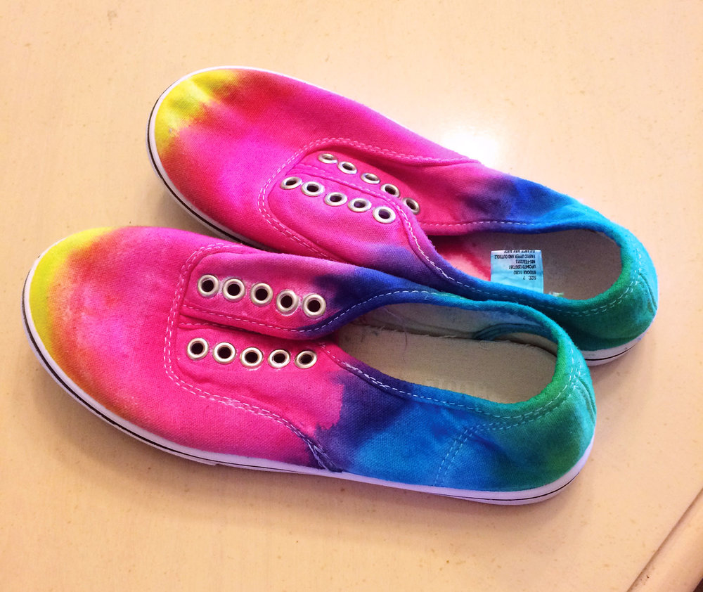 Tie dyed shoes