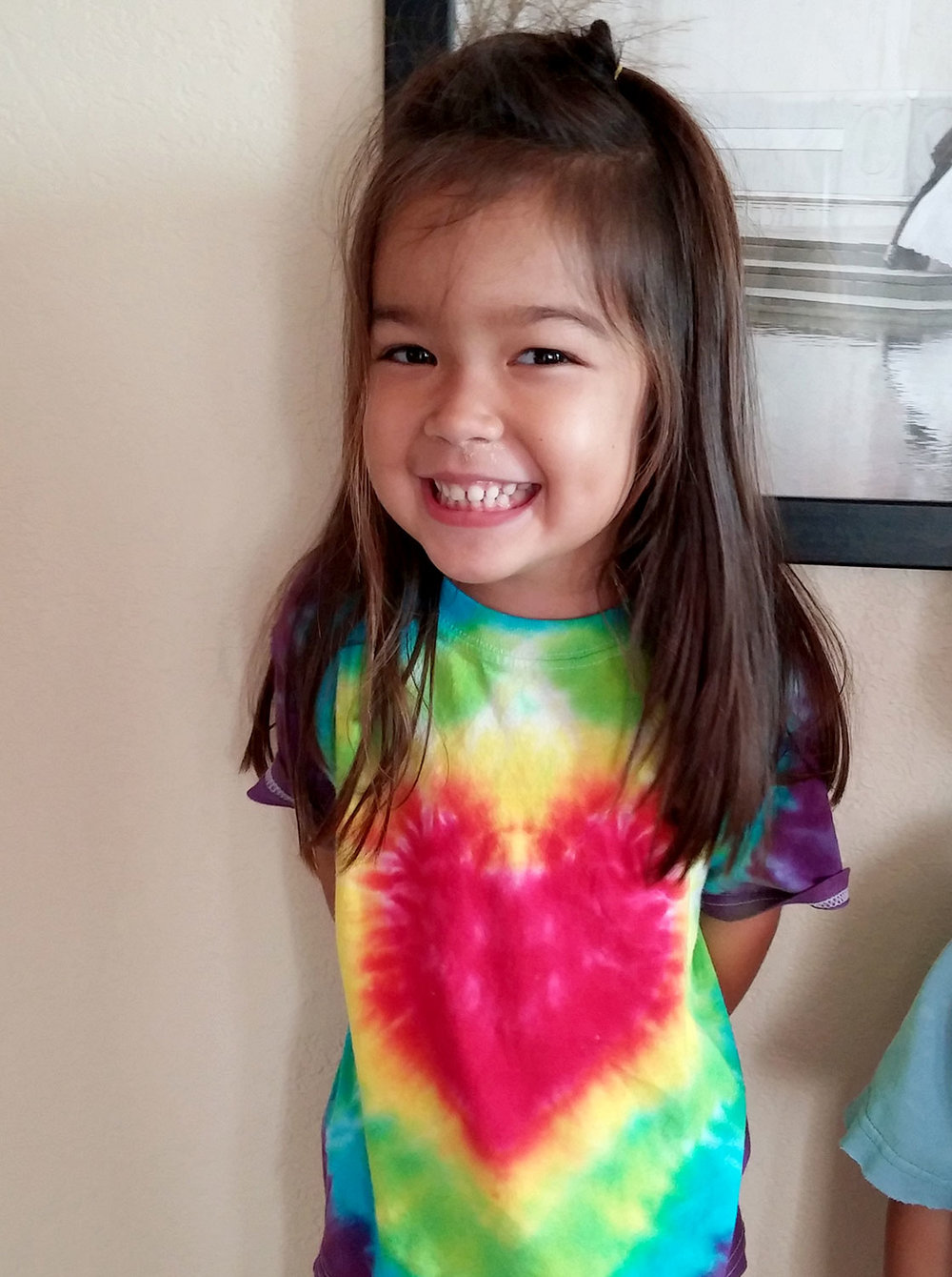 Tie dyed heart t-shirt