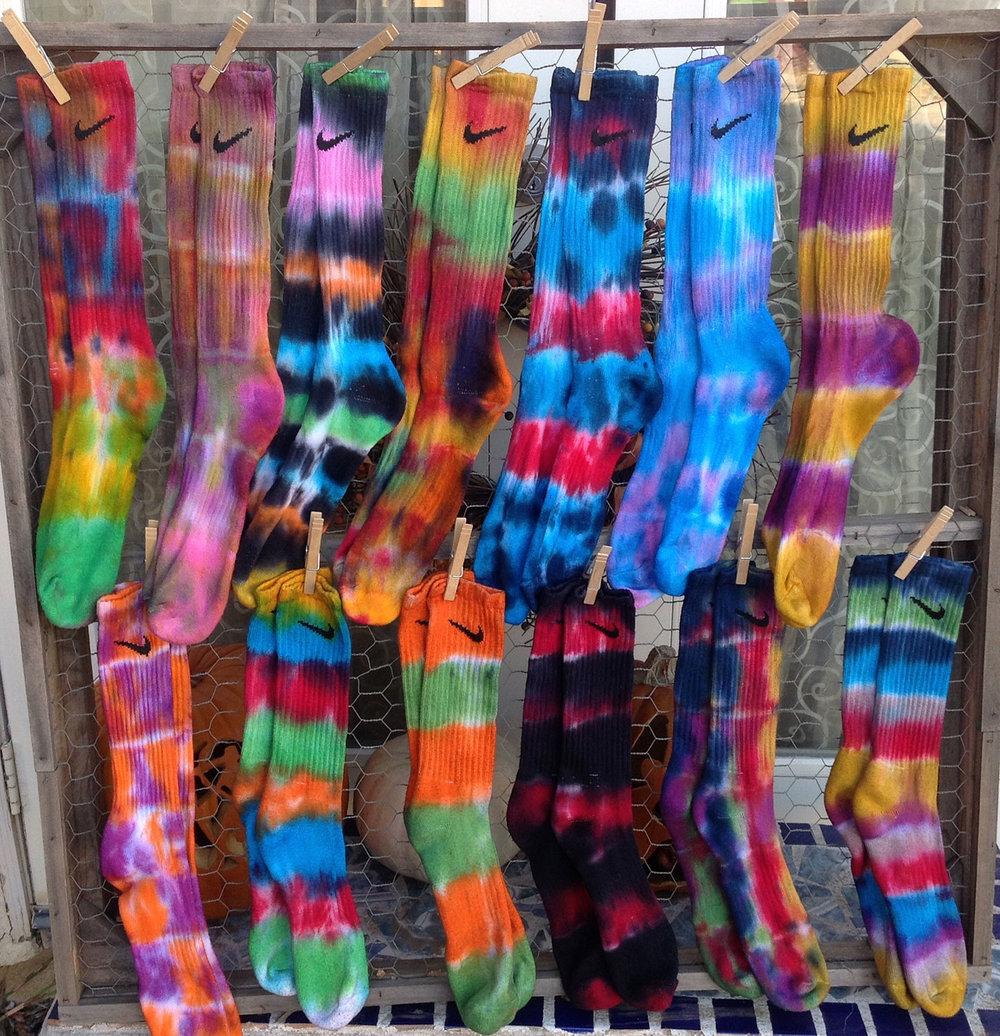 Tie dyed socks