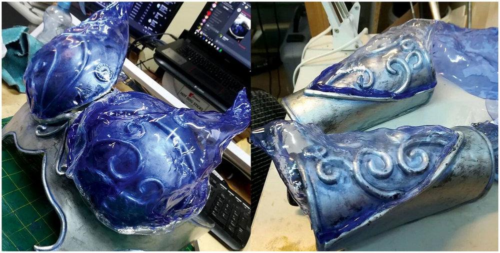 Worbla cosplay armor dyed with iDye Poly by McKracken Workshop