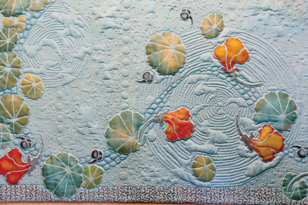 """Flowers on Blue"" by April Sproule"
