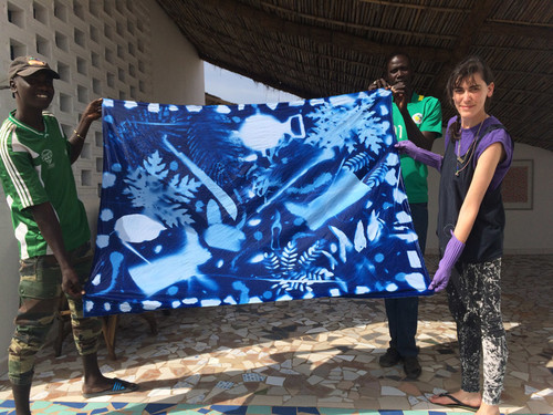 Gallery of Cyanotype Artwork by artist Andrea Bergart