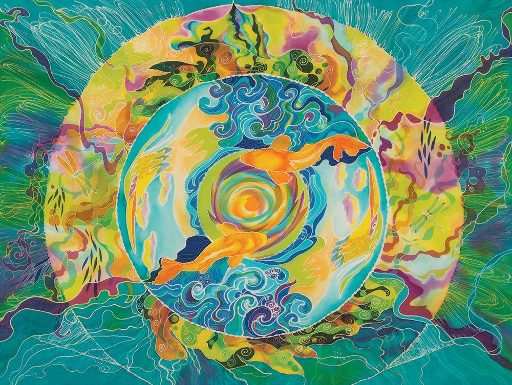 Artwork by Julie Cox-Hamm @juliartsilks