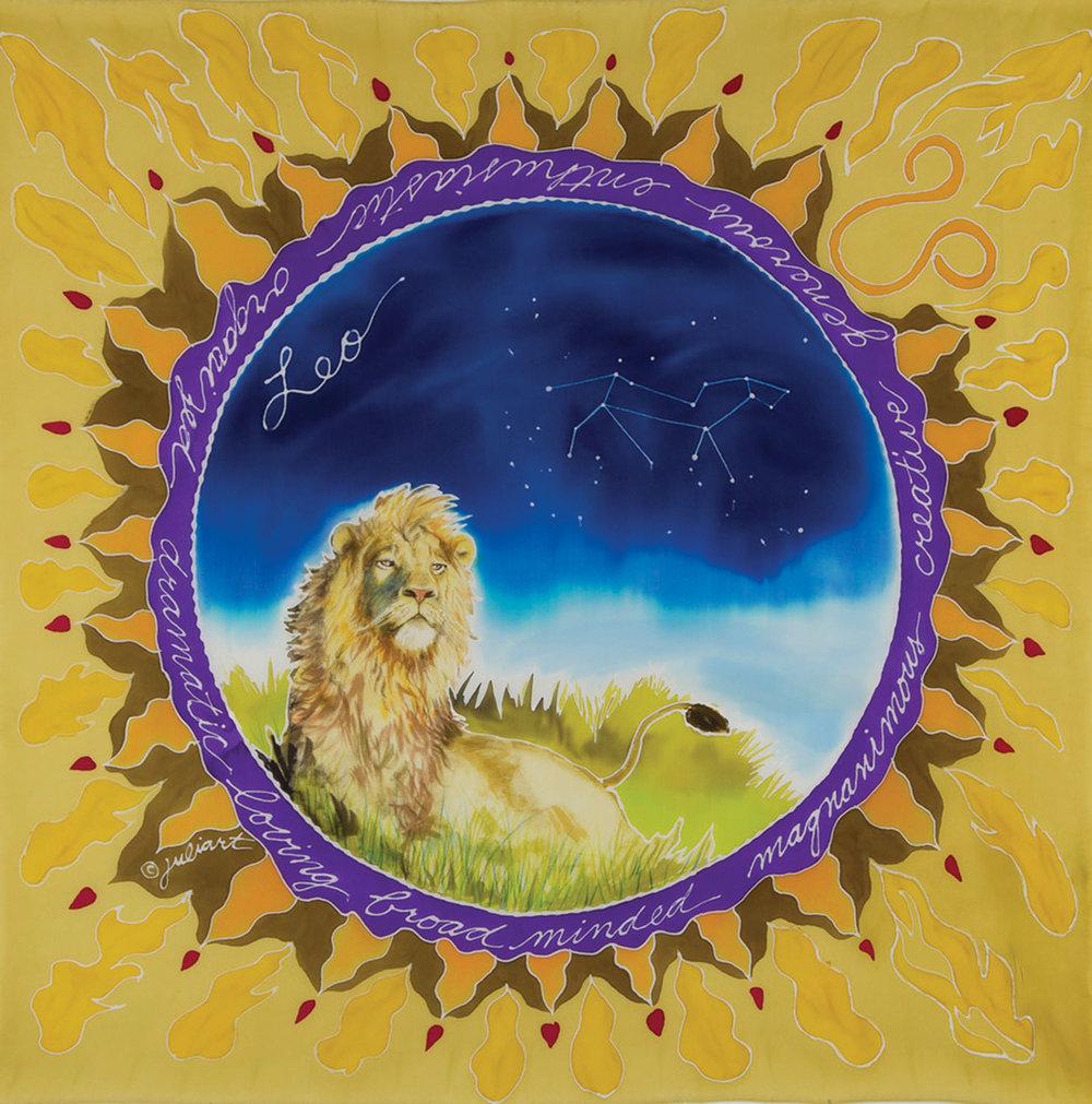 """Leo Astro Scarf"" by Julie Cox-Hamm"