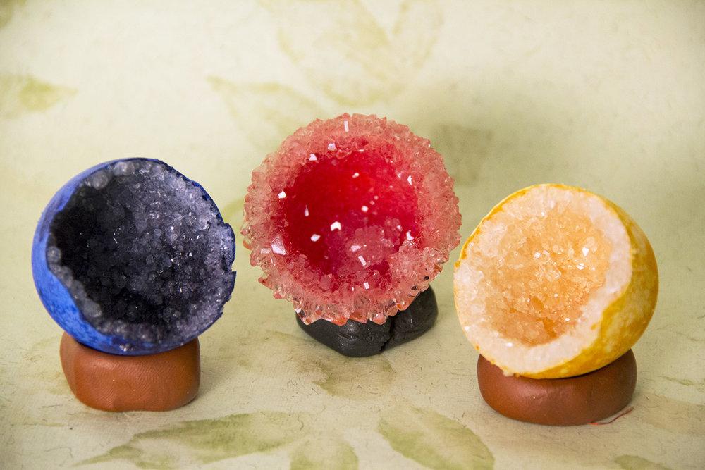 Acid Dye Geode Eggs by Victoria Garcia