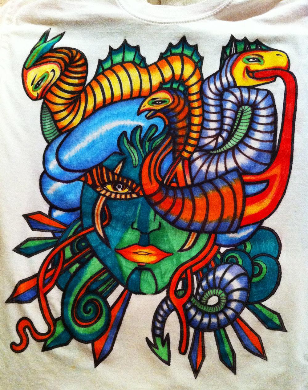 Tee Juice artwork on t-shirt
