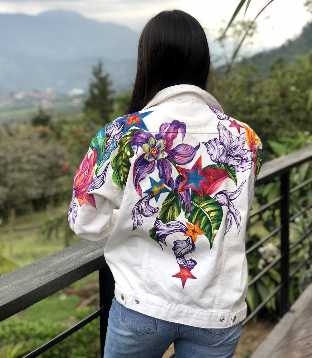 Floral Denim by Ana Maria Restrepo