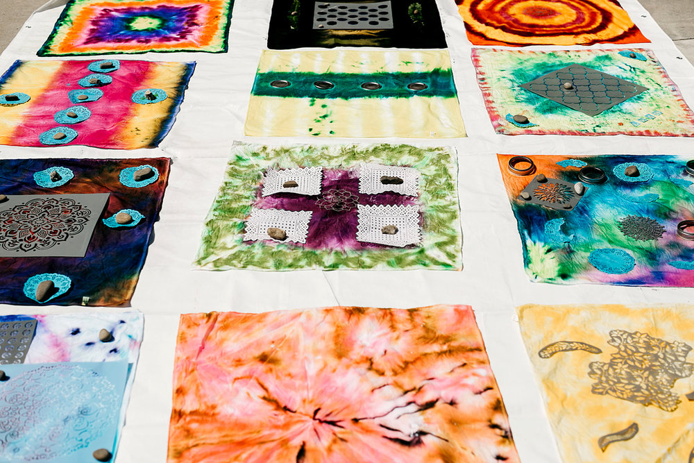 Craftcation 2018 - Sun printing with Dye-Na-Flow