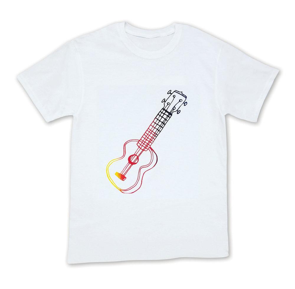 Semi-transparent colors on light t-shirt - Artist @wearebrainstorm