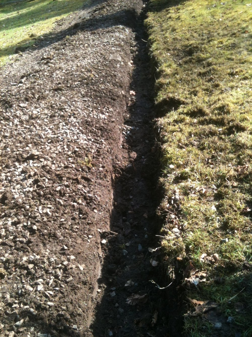 Digging French Drains