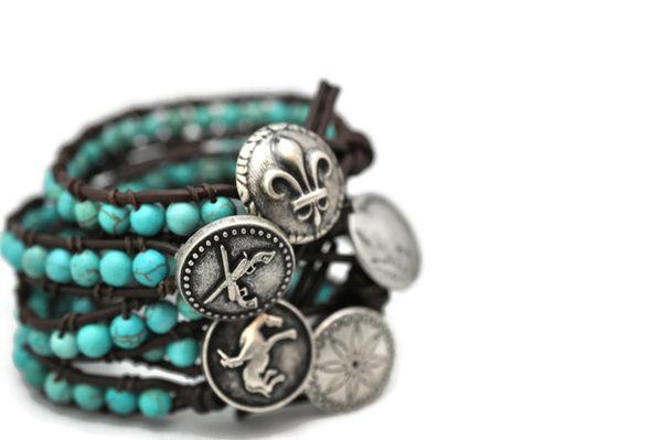Turquoise Button Bracelet