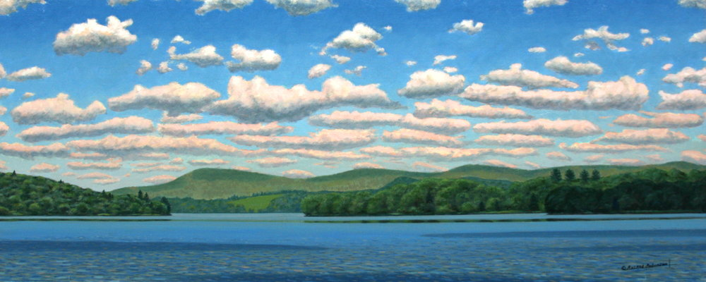 Painting of Lake Waramaug by Charles Raskob Robinson