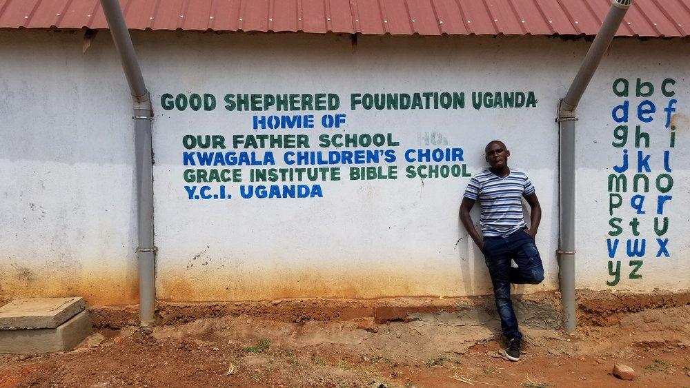 Our Father's School children receiving uniforms