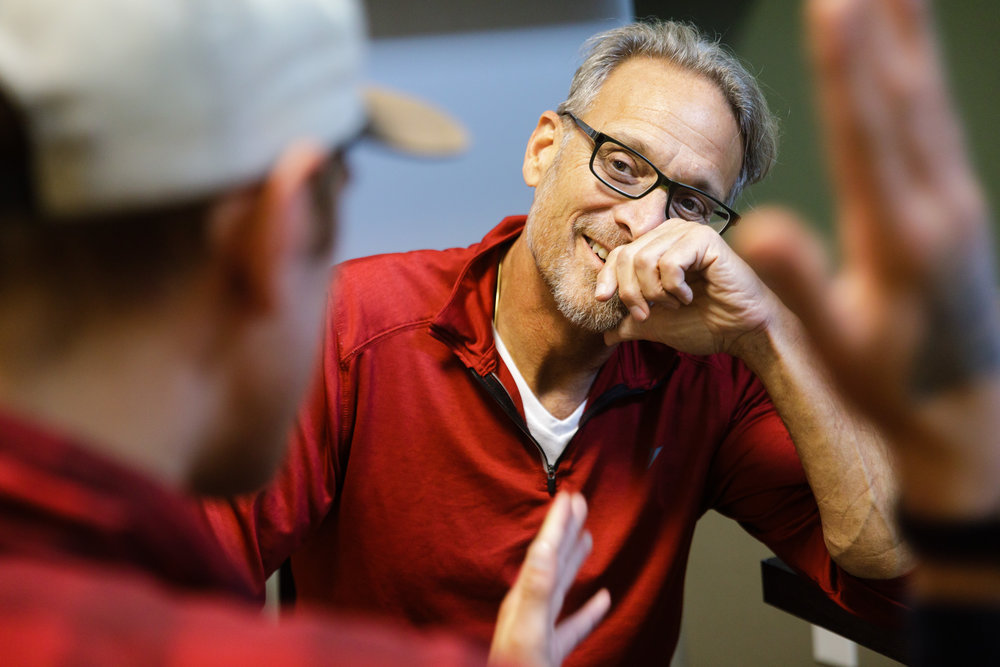 Nurse practitioner Geoff Godfrey listens to a patient at the Ideal Option clinic in Everett, Wash.    CREDIT:  LEAH NASH FOR FINDING FIXES »