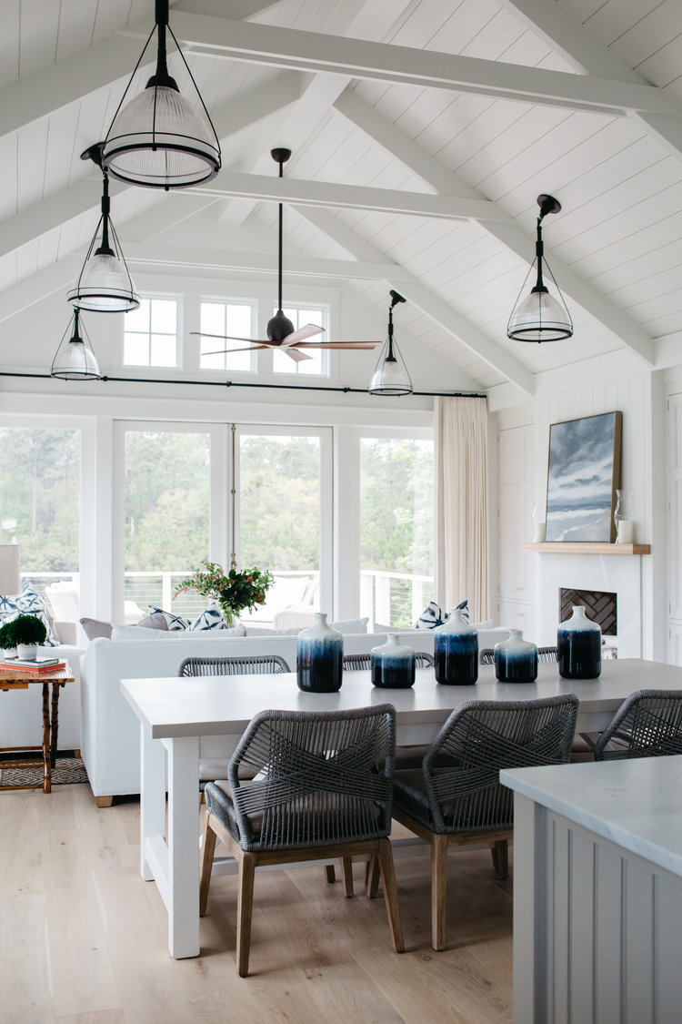 Great room with shiplap and blue accents. Modern farmhouse inspiration. Coastal Cottage Interior Design Inspiration - Part 1 {Get the Look!}#livingroom #shiplap #cottagestyle #coastaldecor