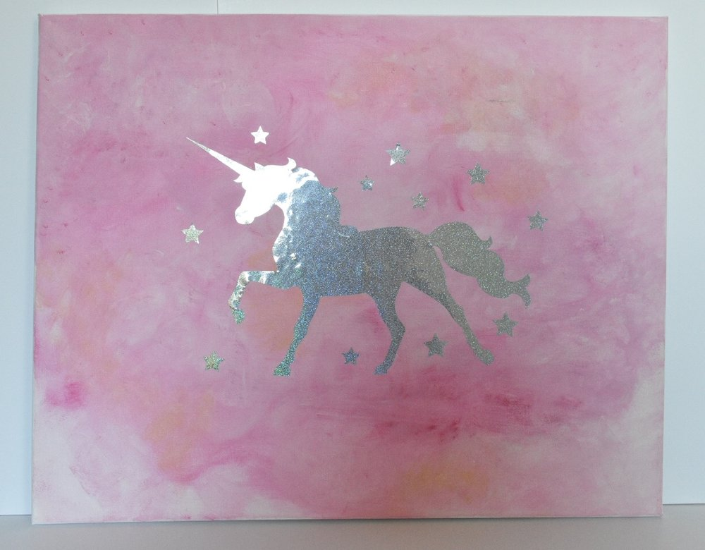 Whimsical Rainbow Unicorn Dark Pink.jpg