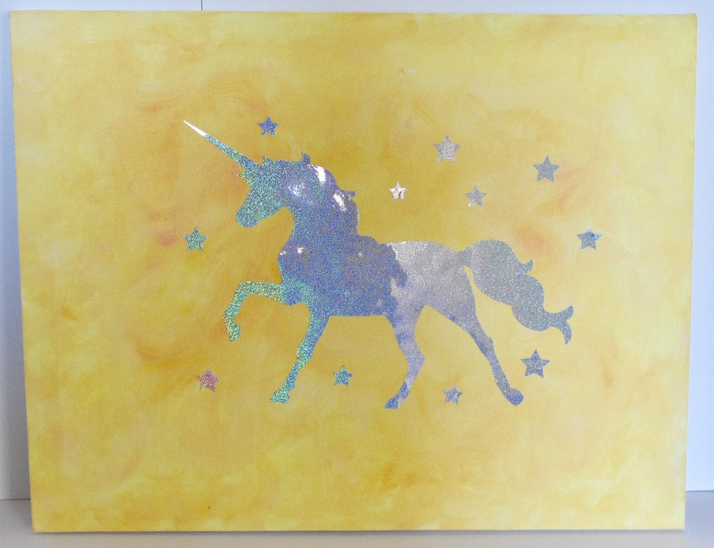 Whimsical Rainbow Unicorn Dark Yellow.jpg