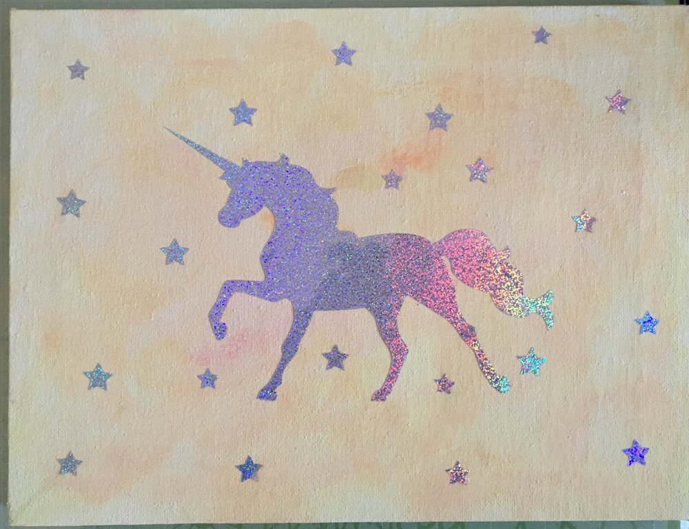 Whimsical Rainbow Unicorn Pastel Yellow