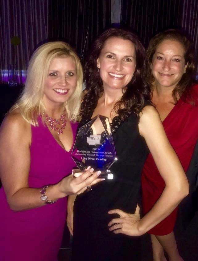 "USA Direct Funding won ""Wholesale Lender of the Year"" at the 2017 WAMP Business & Humanitarian Leadership Awards Gala."