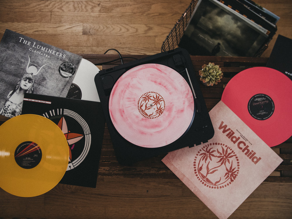 Exclusive vinyl - You can't get it anywhere else! Every record we send is a limited edition pressed vinyl and only available through our club.