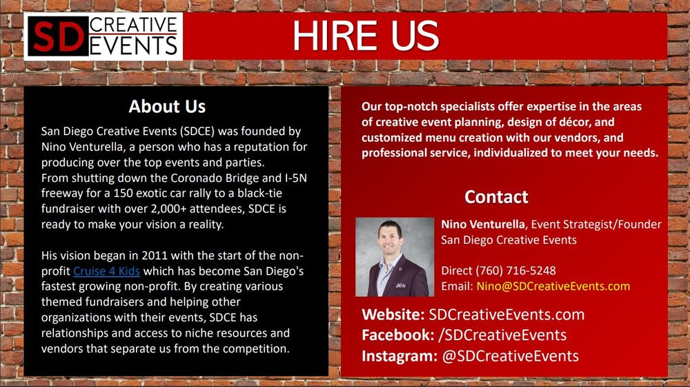San Diego Creative Events Presentation 8 contract hire contact us.JPG