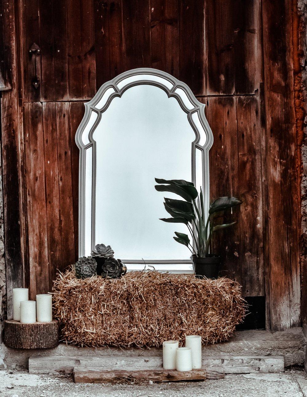 Arched mirror on haysrack.jpg