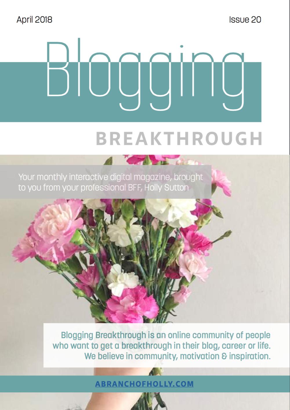blogging breakthrough april 2018 issue 20