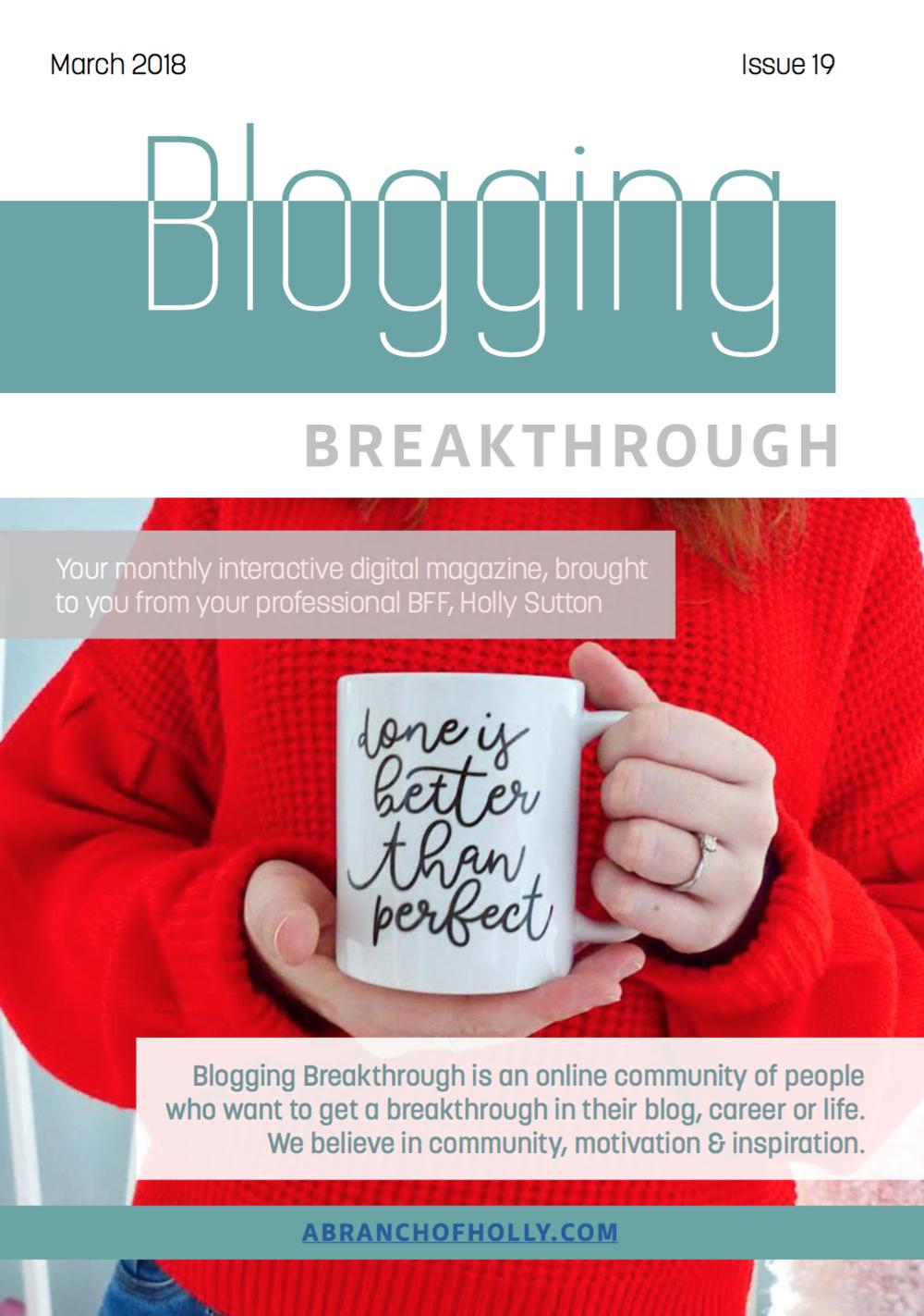 blogging breakthrough march 2018 issue 19