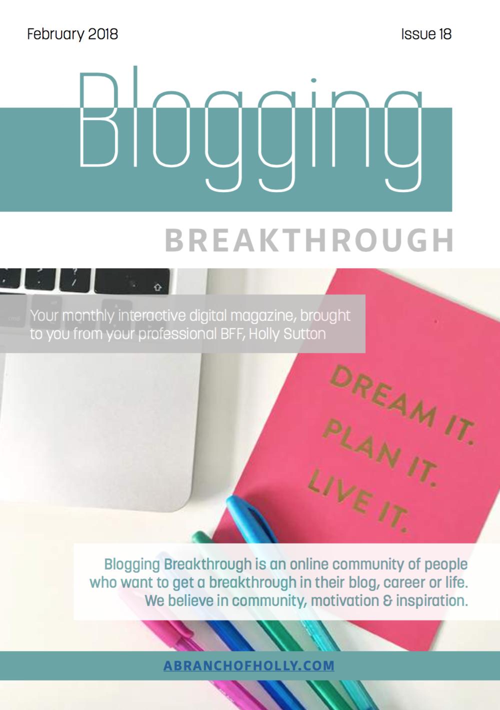 blogging breakthrough february 2018 issue 18