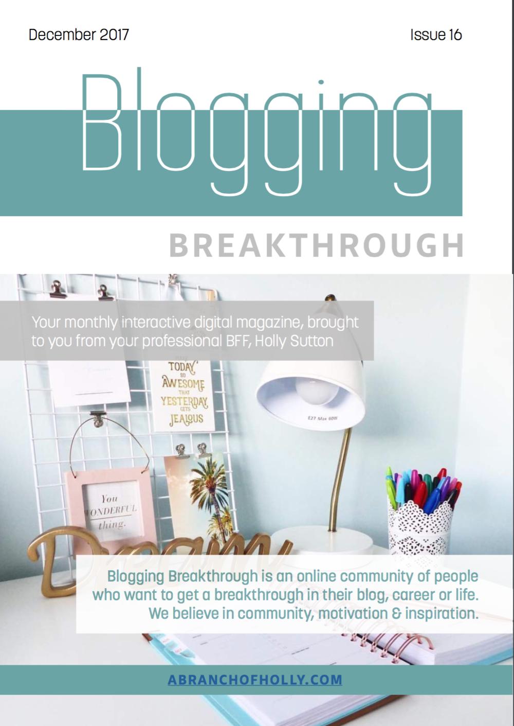 blogging breakthrough december 2018 issue 16