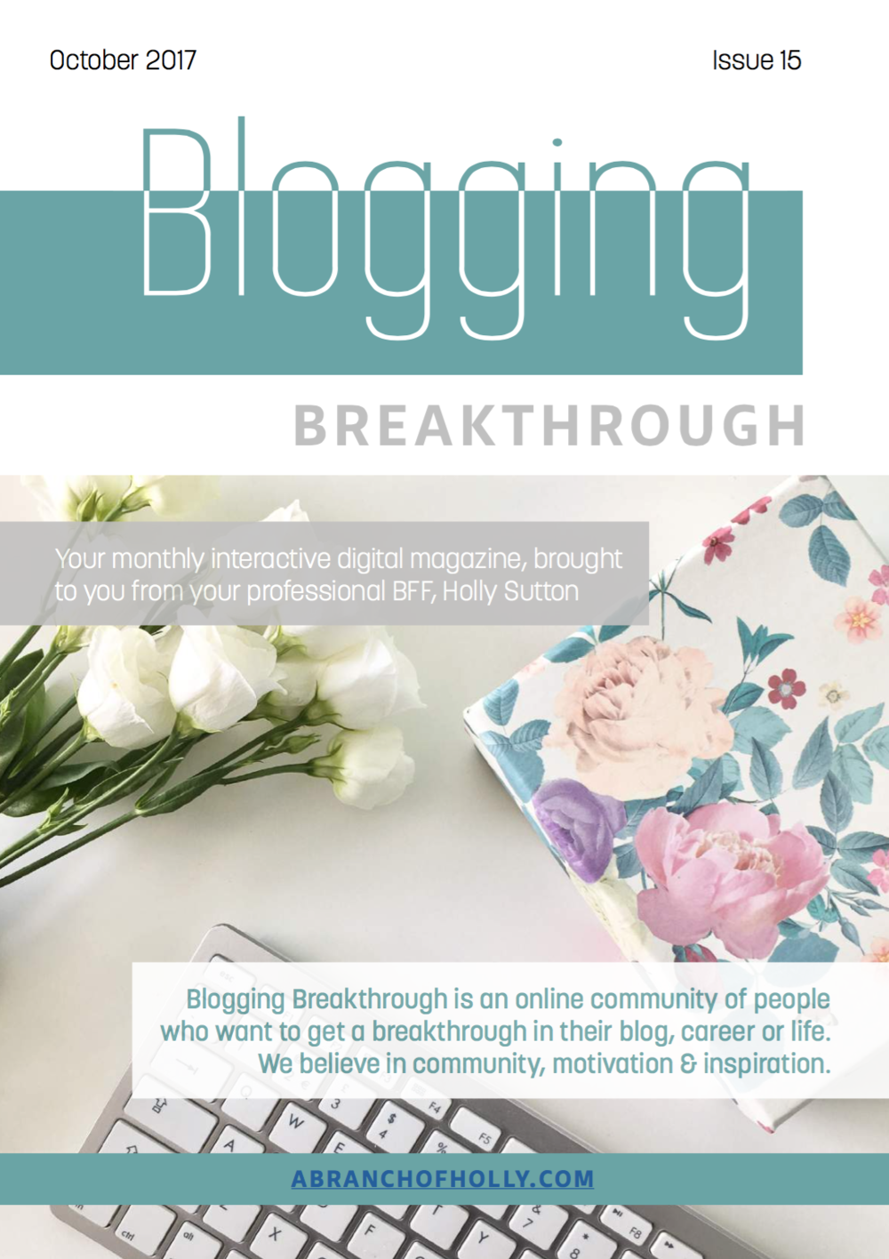 blogging breakthrough October 2018 issue 15