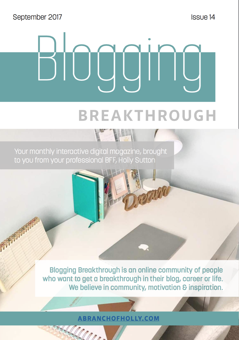 blogging breakthrough september 2018 issue 14