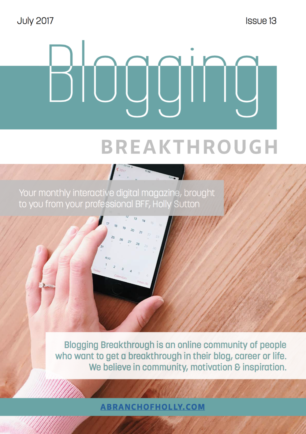 blogging breakthrough july 2018 issue 13